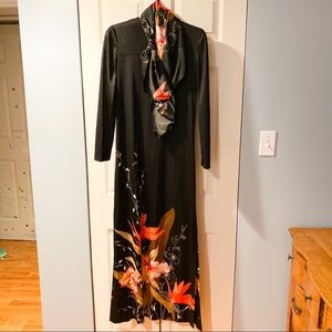 Vintage 70's Saks Fifth Avenue maxi dress